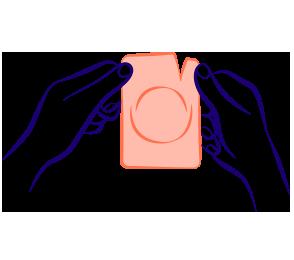 Préservatif interne emballé